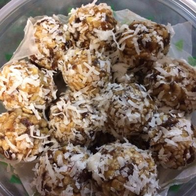 Mom's Famous Coconut Date Balls