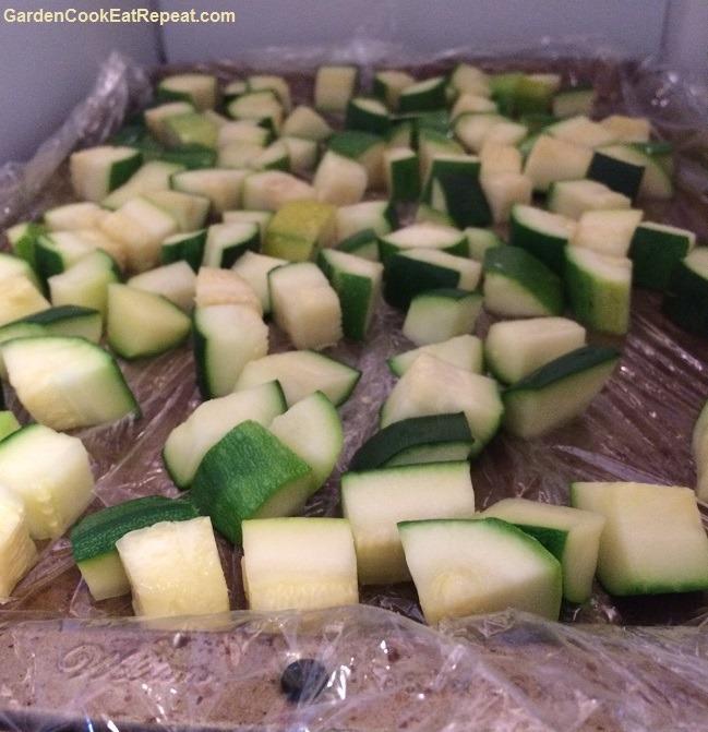 Freezing Black Beauty Zucchini