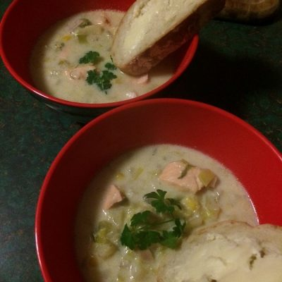 Fish & Leek Soup