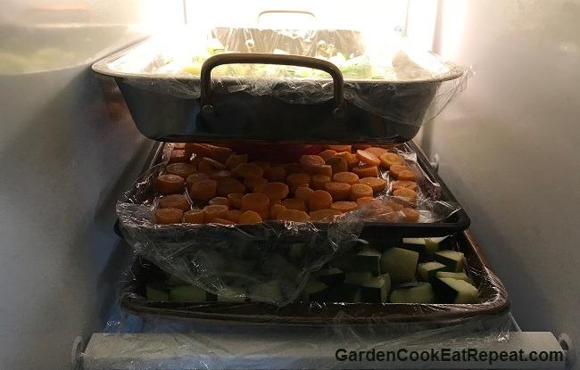 Quick freeze veggies