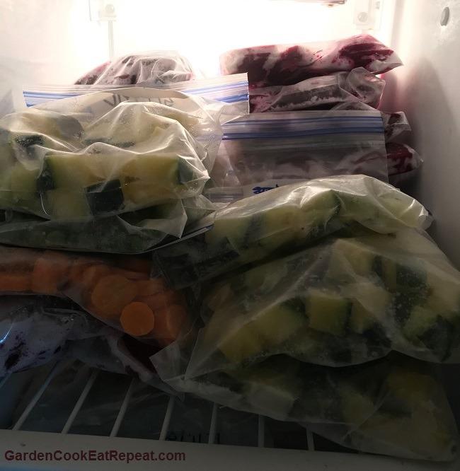 Freezing vegetables