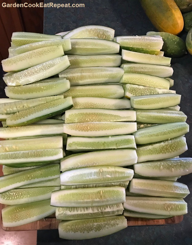 Preparing Cucumbers for Pickling