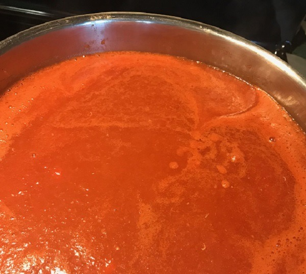 Reducing Sauce