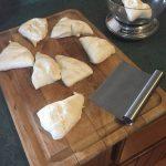 Weigh bagel dough