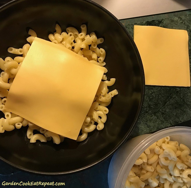 Cheese on bottom and top