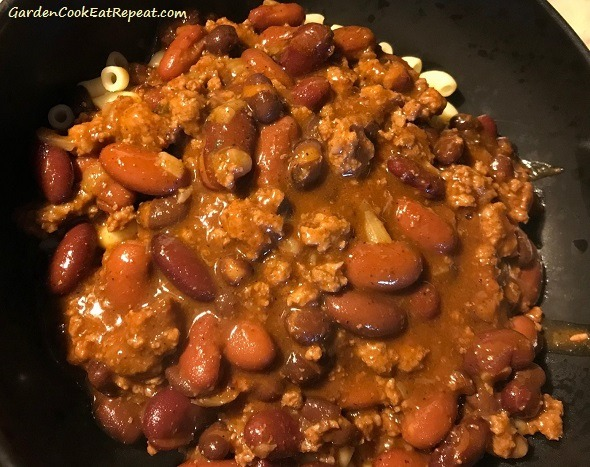 Add the chili to bowl