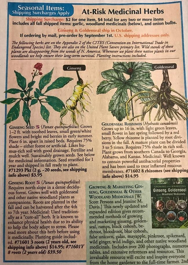 Plant varieties at risk