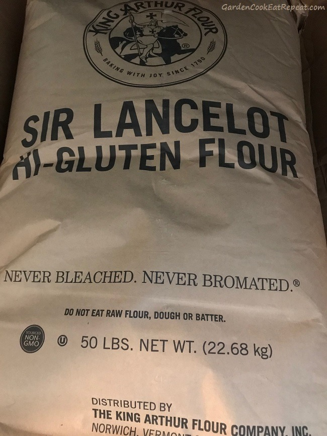Fifty pounds of flour