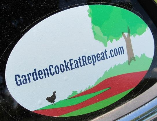 Garden Cook Eat Repeat car window decal