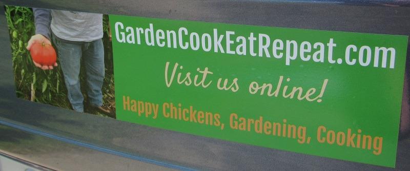 Garden Cook Eat Repeat Bumper Sticker