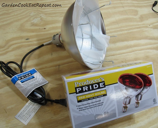 Chicken Heat Lamp and Bulbs