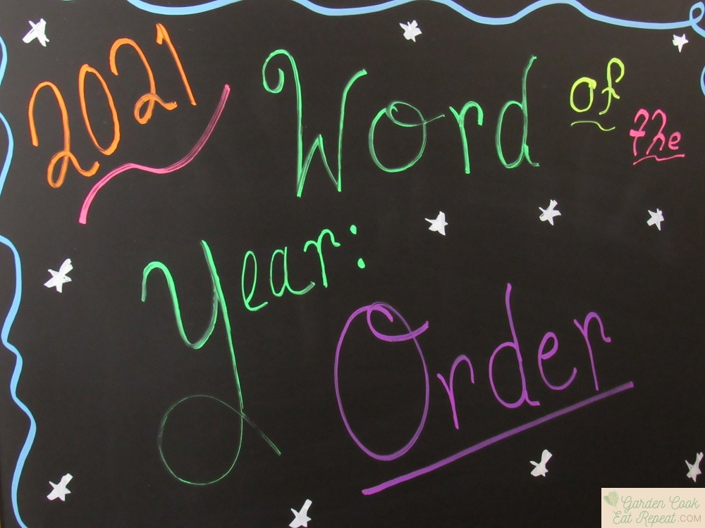 Word for the Year is Order