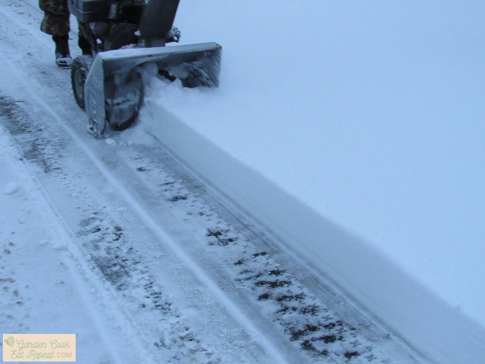 Foot of snow fell